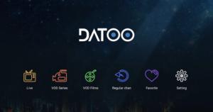 Page d'accueil DATOO proposée par PopCornIPTV.com. Leur partenariat est l'avenir de l'IPTV : un duo au sommet.