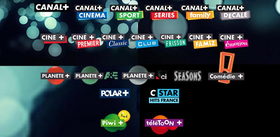 Présentation des chaines Canal + proposées par PopCorn IPTV